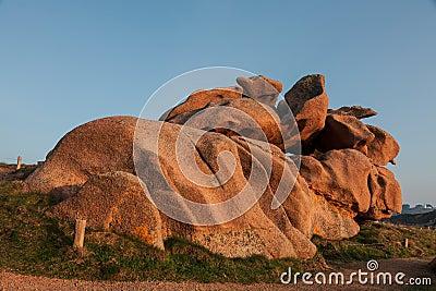 Rocks on the Pink Granite Coast