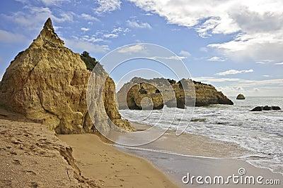 Rocks at Praia da Rocha Portugal