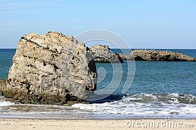 Rocks in the sea.