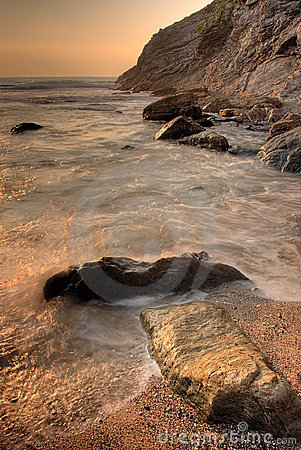 Rocks In The Sea Royalty Free Stock Images - Image: 2625189