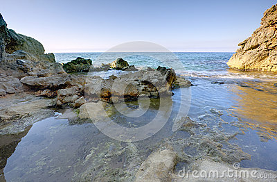 Rocks at sea