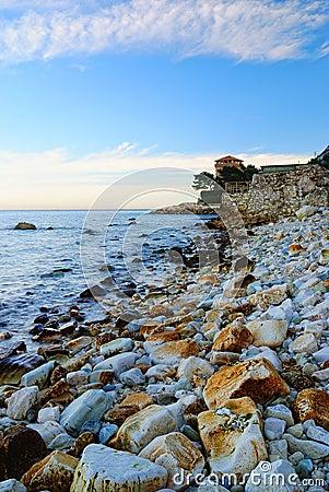Rocks on the shoreline