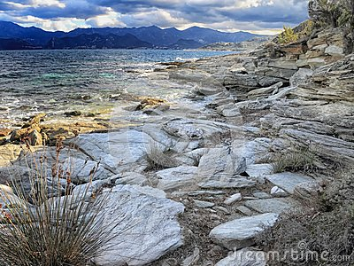 Rocks and shoreline, Corsica