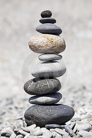 Free Rocks Stacked On The Beach Stock Photos - 9906803