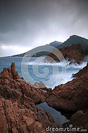 Rocks among the waves