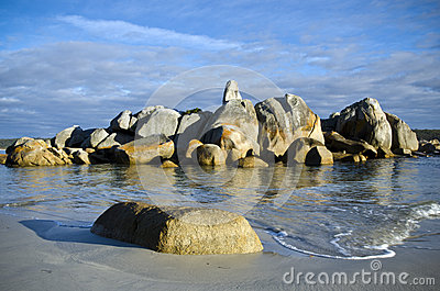 Rocks and waves, Bay of Fires, Tasmania