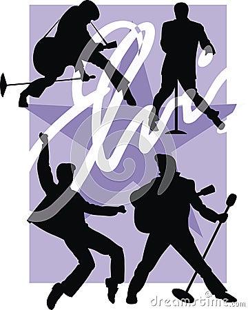 Free Rockstar Illustration Royalty Free Stock Photos - 10729398