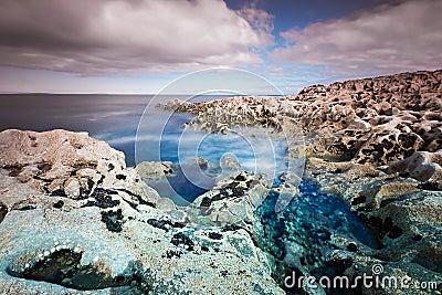 Rocky Atlantic ocean scenery in Burren