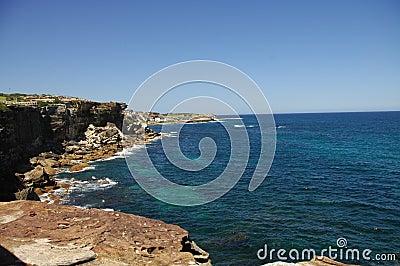 Rocky Australian shoreline