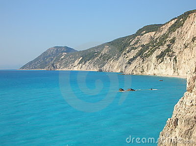 Rocky bay in Lefkada, Greece