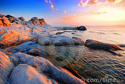 Rocky beach - Portokali (Kavourotripes) Beach