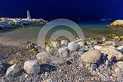 Aegean Sea at night
