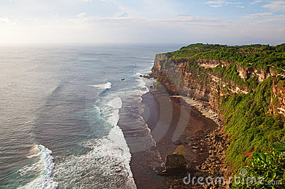 Rocky beach on Bali