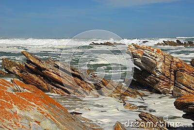 Rocky beach of Cape Agulhas