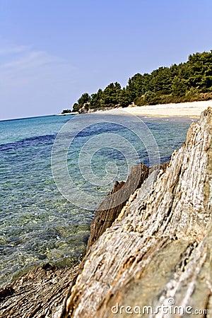 Rocky beach at Chalkidiki, Greece
