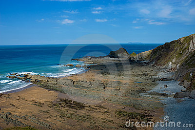 Rocky Beach And Cliffs Royalty Free Stock Photo - Image: 20913555
