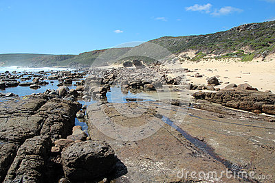 Rocky Beach at Moses Rock south western Australia