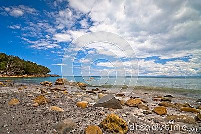 Rocky beach - New Zealand