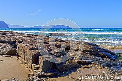 Rocky beach, Tasmania
