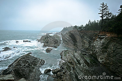 Rocky Cliffs on the Pacific Coast