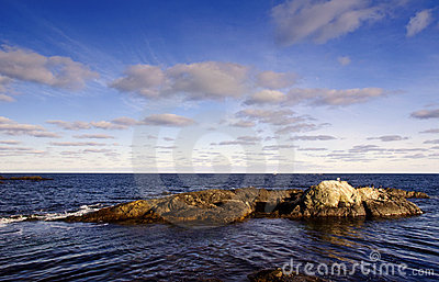 Rocky Coast and Beautiful Clouds