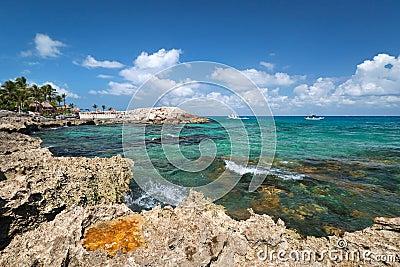 Rocky coast of Caribbean Sea