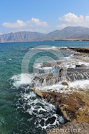 Rocky coast of Crete