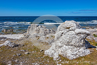 Rocky coast of Gotland, Sweden