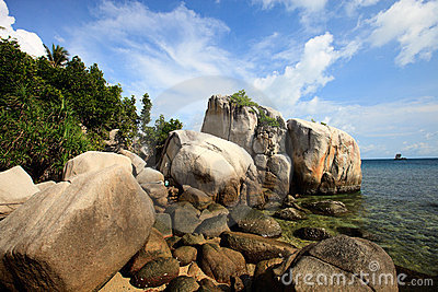 Rocky coast in Indonesia