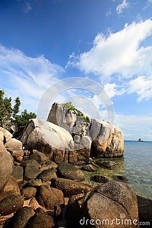Rocky coast in Indonesia