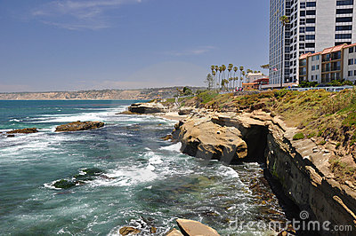 Rocky coast of La Jolla