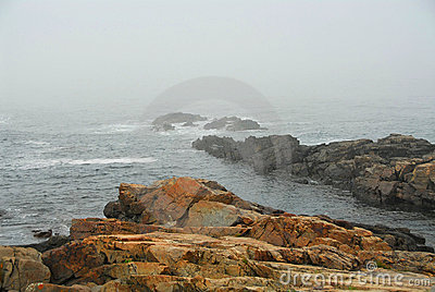 Rocky coast in Maine
