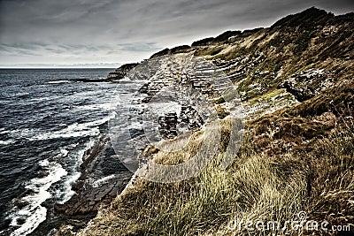 Rocky coast near Saint Jean de Luz, France