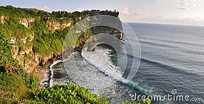 Rocky coast near Uluwatu temple on Bali
