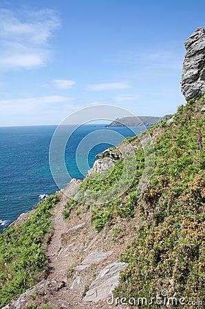 Rocky coast path