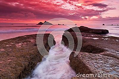 Rocky Coastal Sunset
