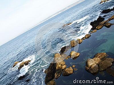 Rocky coastline