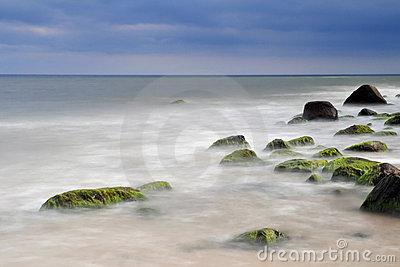Rocky coastline Baltic Sea.