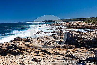 Rocky Coastline Ocean Blue