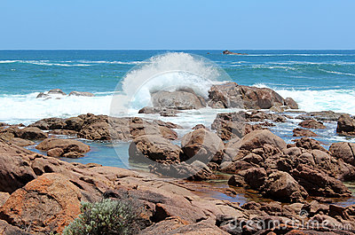 Rocky coastline  Port Smith west Australia