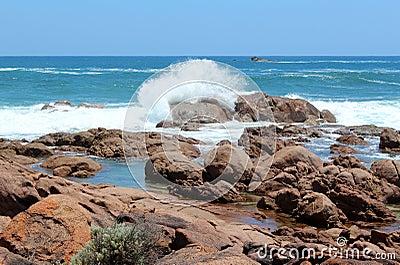 Rocky coastline  Port Smith west Australia