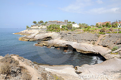 Rocky coastline, Tenerife Spain