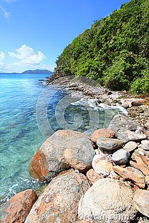 Rocky Coastline on Tortola