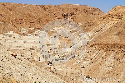 Rocky desert landscape near the Dead Sea
