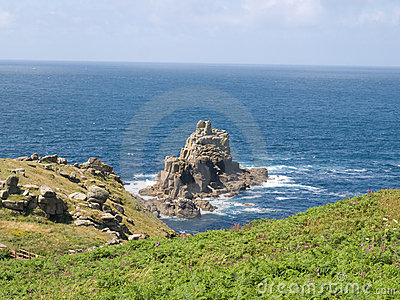Rocky English coastline looking out to sea