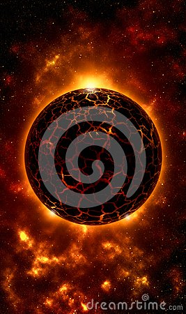 Free Rocky Fire Planet Mobile Wallpaper Royalty Free Stock Image - 103427966