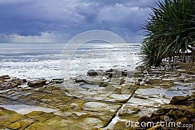 Rocky Headland Stormy