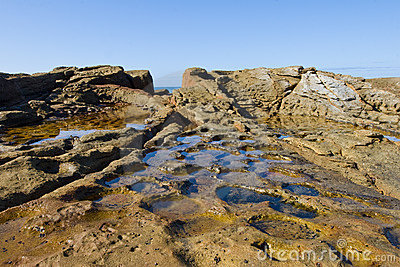 Rocky inter- tidal zone wide angle