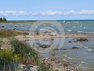 Rocky Lake Huron Beach