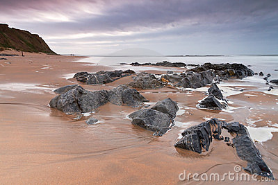 Rocky landscape of Atlantic ocean